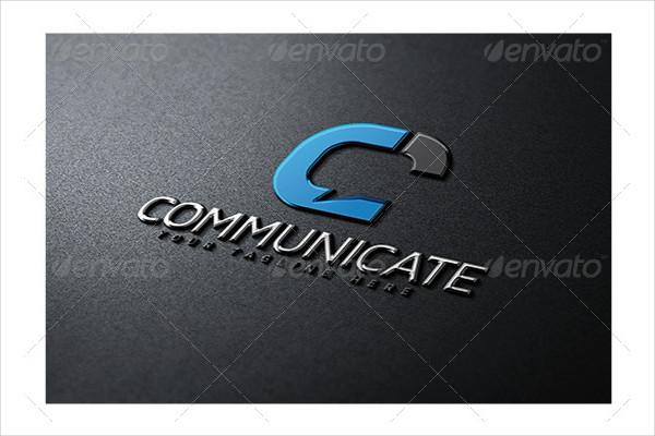 Stylish Communicate Logo Template