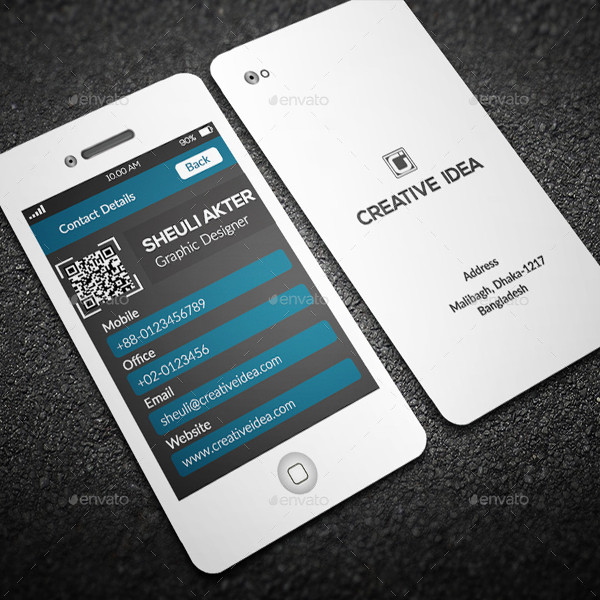 Stylish Phone Business Cards