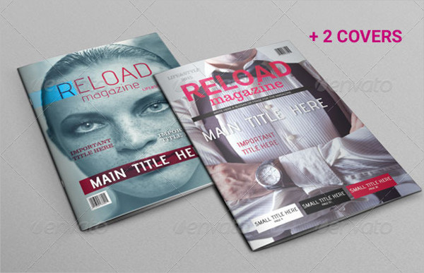 Editable Life & Style Magazine Template