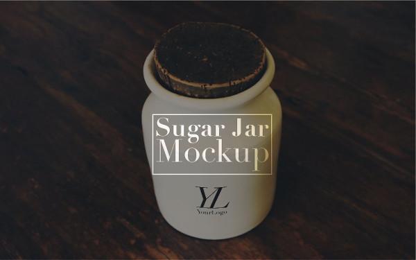 Classy Sugar Jar Mockup