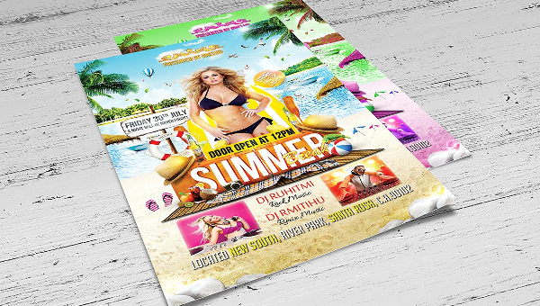 45+ Summer Break Flyers