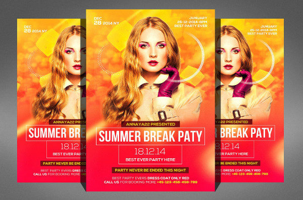 Summer Break Stylish Flyer Template