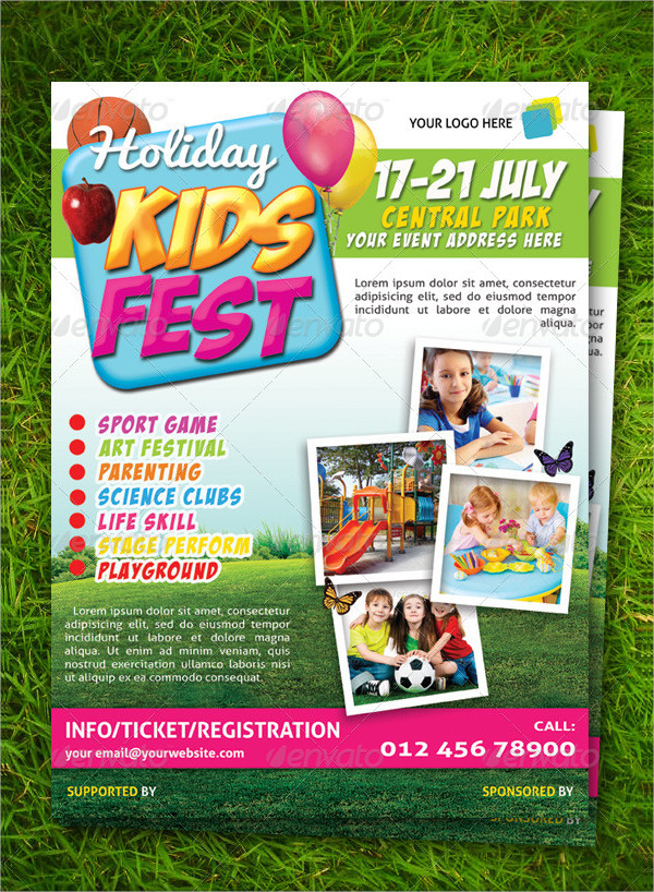 Flyer to Promote Kids Festival
