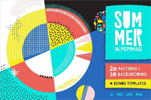 Summer Memphis Patterns