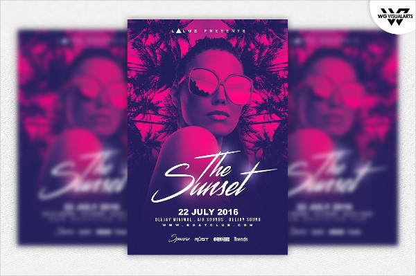Summer Tropical Party Flyer Template