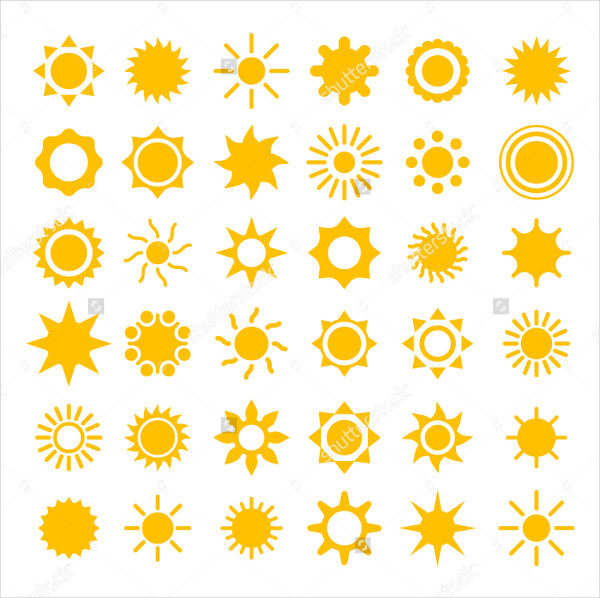 Vector Sun Icons Collection