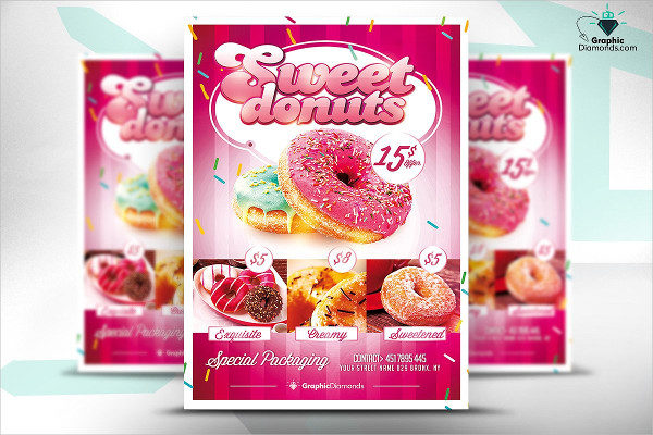 Sweet Donuts Perfect Flyer for Bakeries