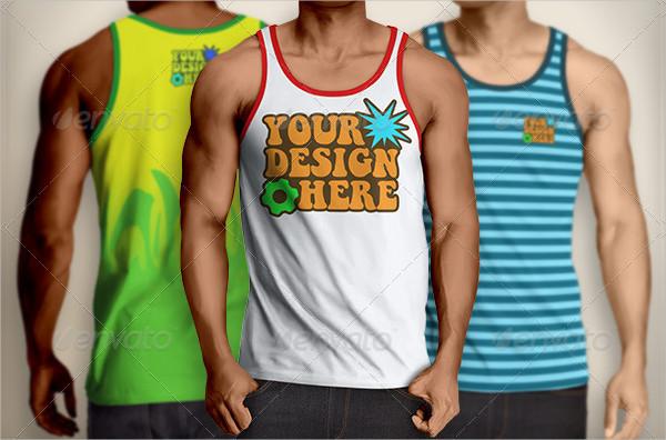 Men's Tank Top Mockups Design