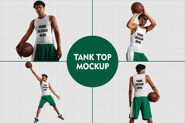 Editable Tank Top Photoshop Mockup