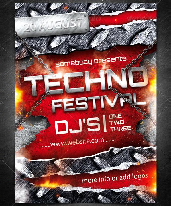 Techno Festival Event Posters