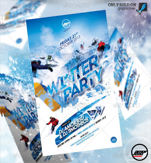 Winter Party Stylish Flyer Template