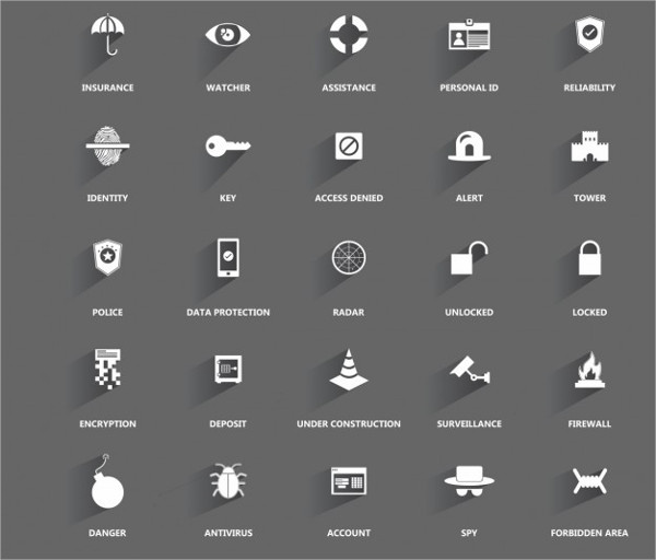 Icons about Security & Protection Free