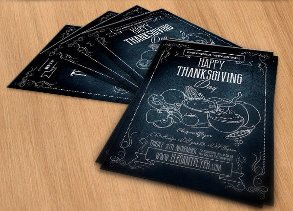 Happy Thanksgiving Free PSD Flyer Template