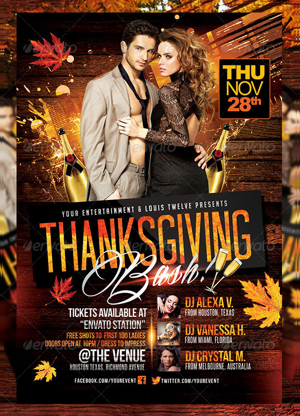 Thanksgiving Bash Flyer Templates