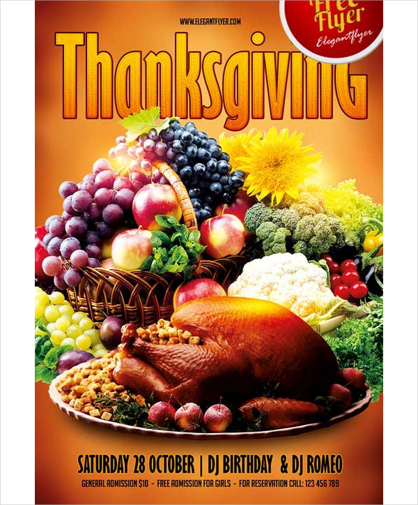 Astounding image with free printable thanksgiving flyer templates