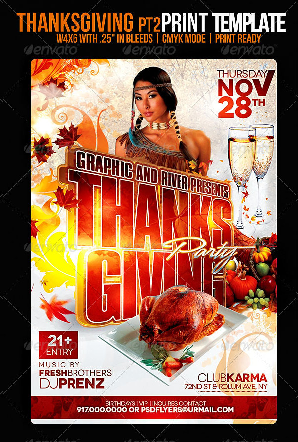 Unique Thanksgiving Flyer Template