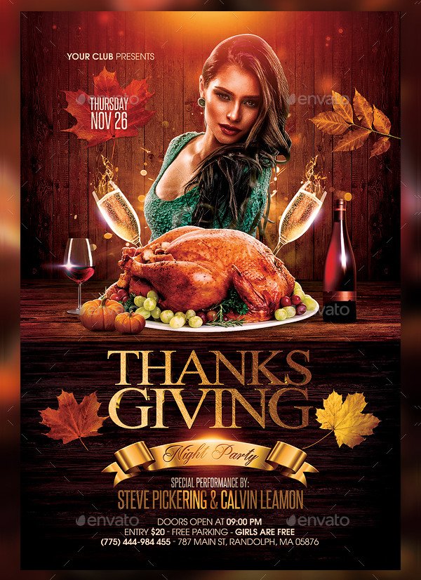 Popular Thanksgiving Flyer Template
