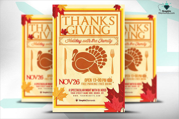 Thanksgiving Holiday PSD Flyer Template