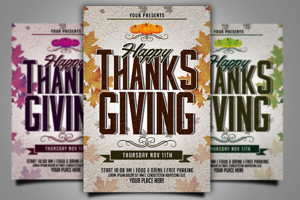 Best Thanksgiving Flyer Template