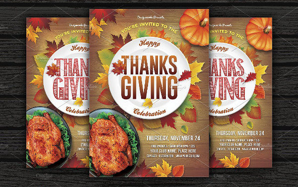 Thanksgiving Celebration Flyer Templates