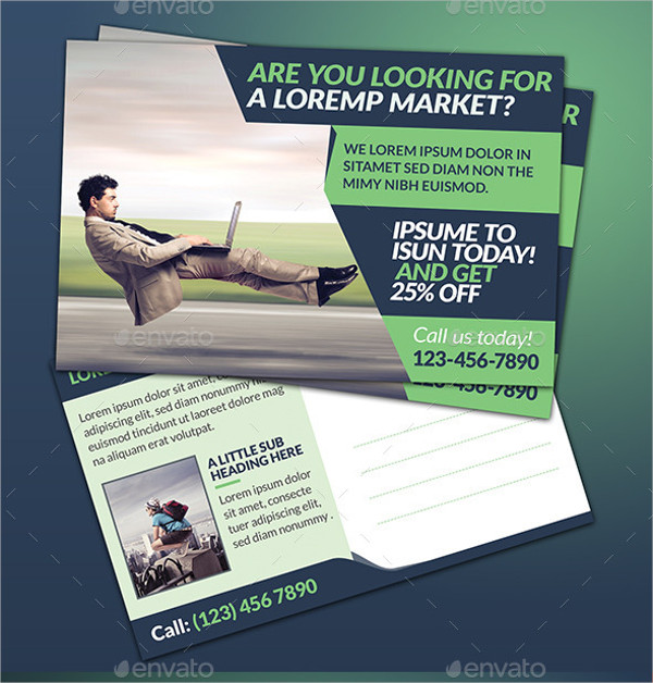 Easy to Edit Marketing Postcard Template