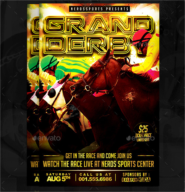 Horse Racing Printable Flyer Template