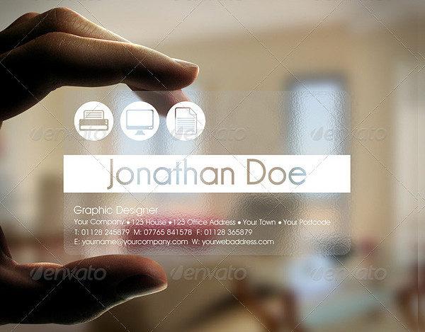 Transparent Designer Business Card Template
