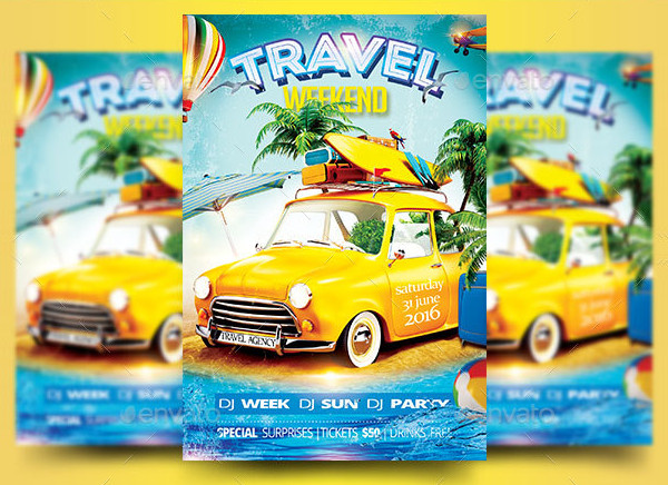 Travel Weekend Party Advertising Flyer