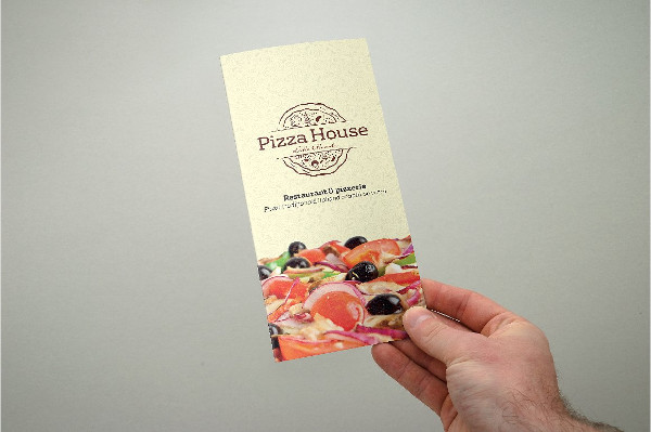 Trifold Pizza Menu Flyer Design