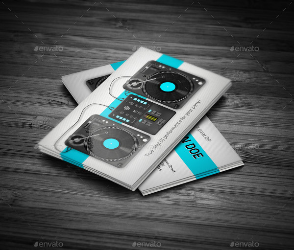 25 dj business card templates free premium download turntablist dj business card template flashek Images