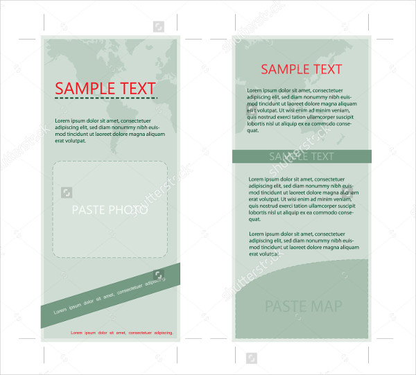 Two Sided Rack Card with Earth Theme