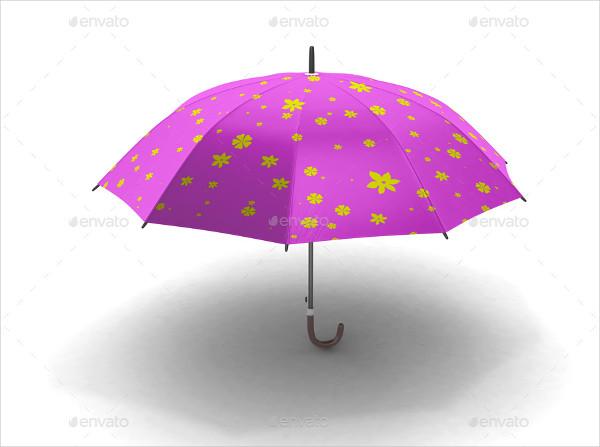 Umbrella Branding Mockup