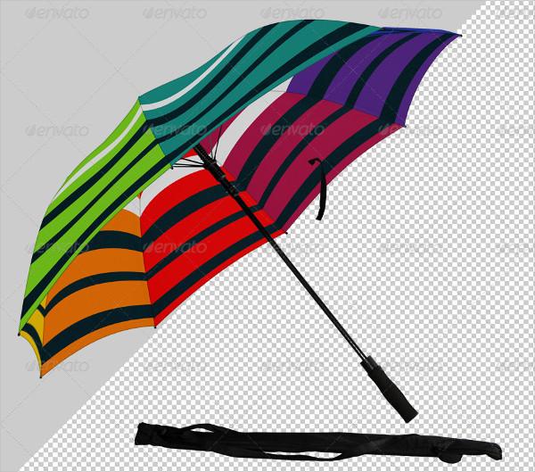 Umbrella Designed Mockup
