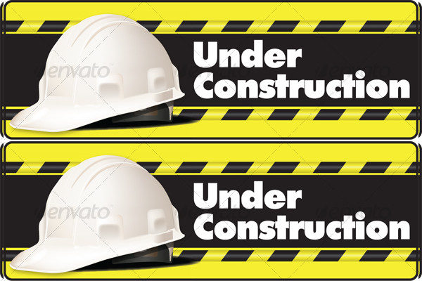 Under Construction Banner for Web Pages
