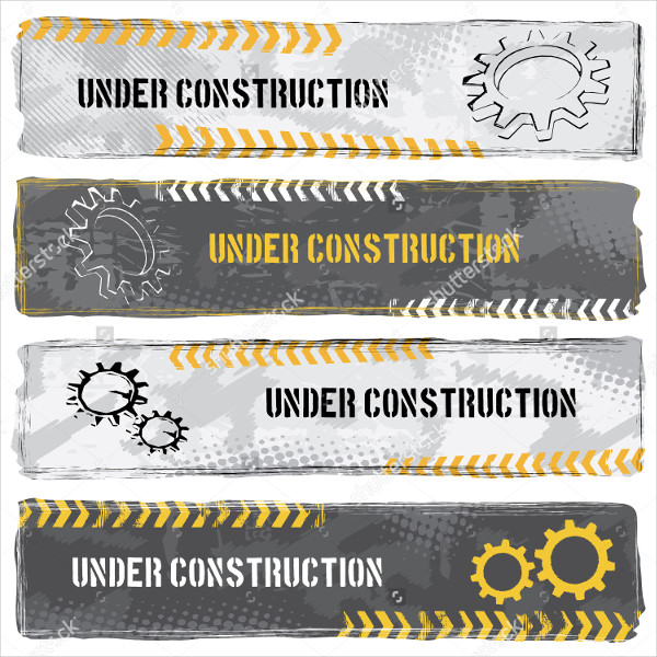 Under Construction Banners Set