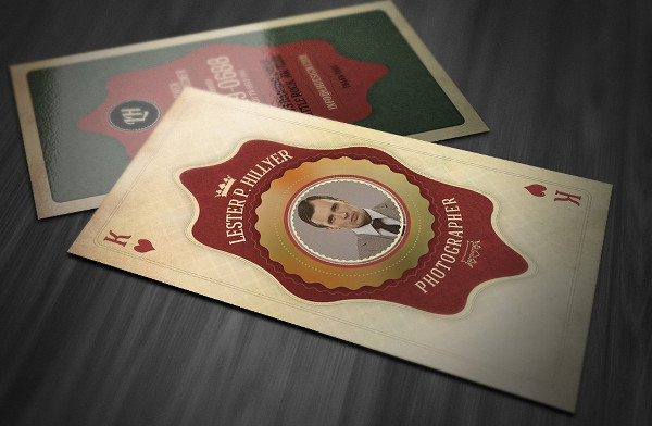 Vintage Playing Business Card Template