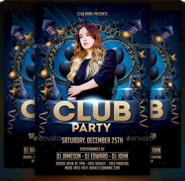 Unique Club Party Flyer Template