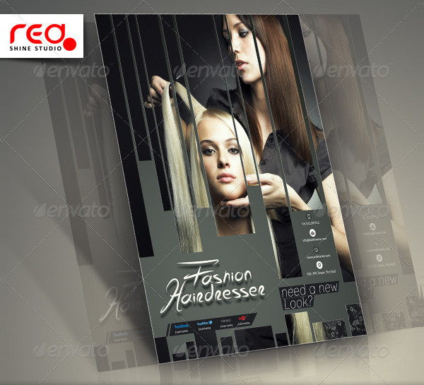 Unique Hair Salons Flyer Template