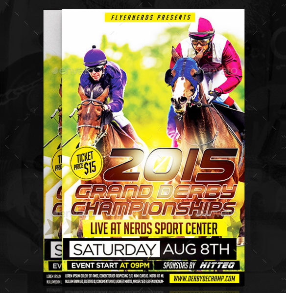 21 horse racing flyer templates psd ai eps format download