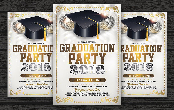 Cool Graduation Party Flyer Template