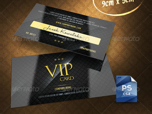 23  famous vip card templates