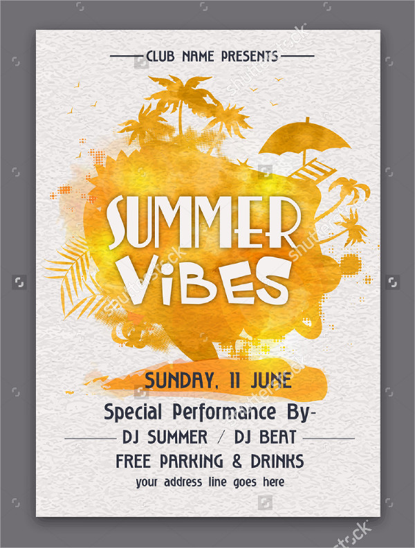 Summer Vibes Weekend Party Flyer