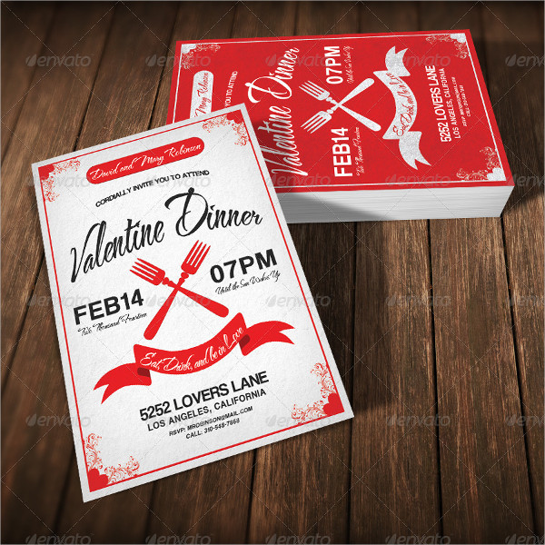 Valentine Dinner Invitation Template