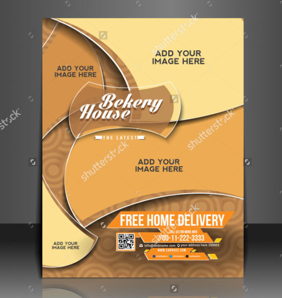 Vector Bakery House Flyer Template