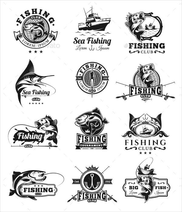 Set of Vector Sea Fish Badges