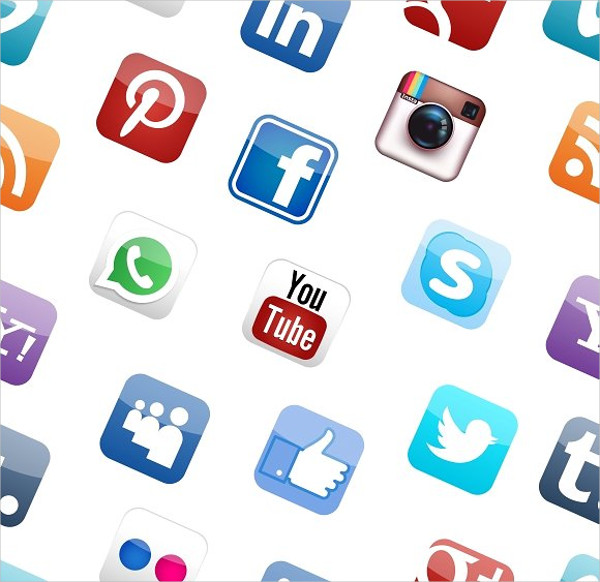 Vector Icons for Social Media