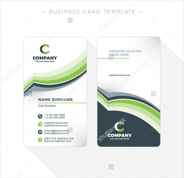 Vertical Double Sided Business Card