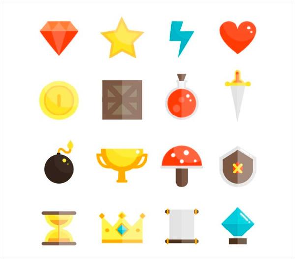 Video Game Icon Set Free