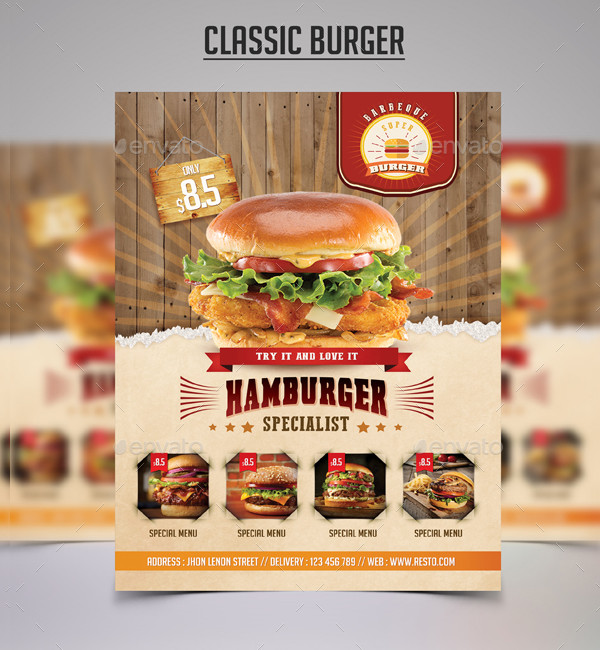 Classic Burger Flyer Template