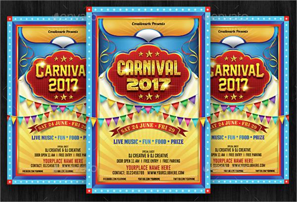 Vintage Carnival Festival Flyer Template